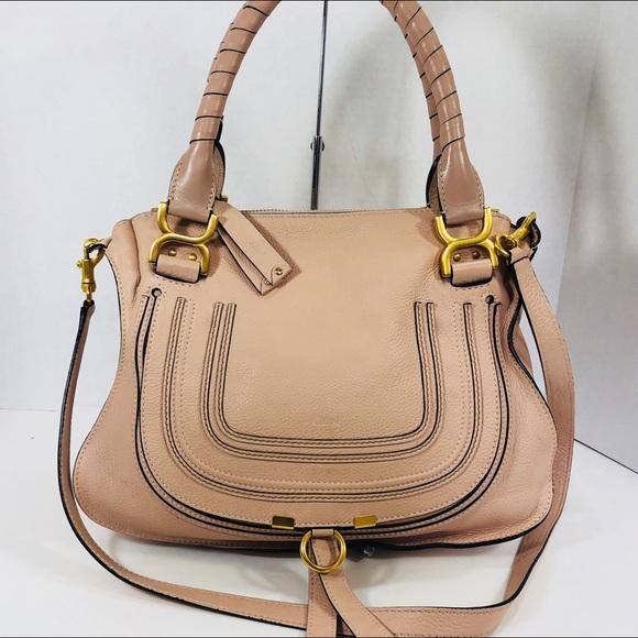 d8e44d974e9 Chloe Handbags - Chloe Medium Marcie Blush Nude Pink Authentic!